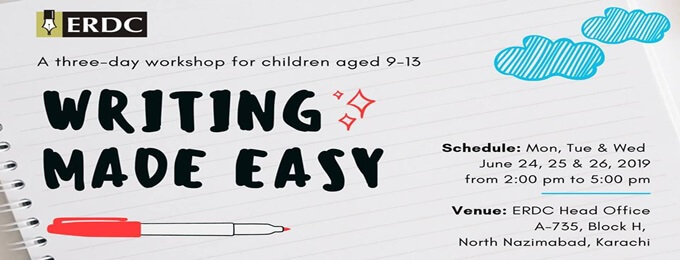 workshop for students aged 9 to 13 years: writing made easy