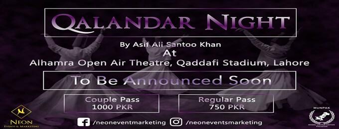 qalandar night 2k18