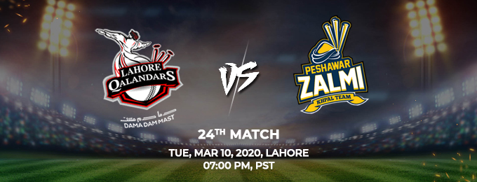 Lahore Qalandars vs Peshawar Zalmi 24th Match (PSL 2020)
