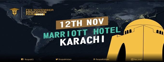 fes november education fair 2020 - marriott hotel karachi