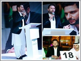 Shahid Afridi Charity Event in Dubai