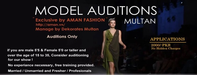 model auditions for fashion show