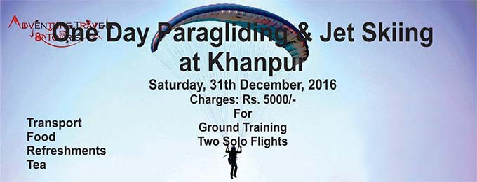 Get Airborne-One Day Paragliding at Khanpur!