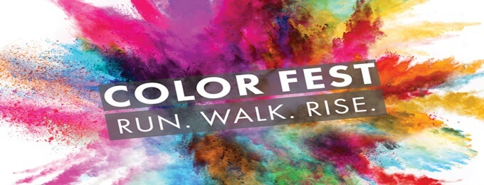 color fest 19 run walk rise. ( official )
