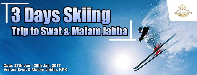 3 days skiing trip to swat & malam jabba lahore