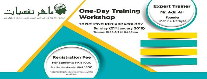 workshop: psychopharmacology