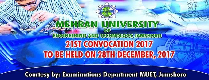 21 convocation of mehran univeristy, jamshoro