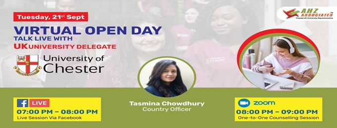 virtual open day of university of chester