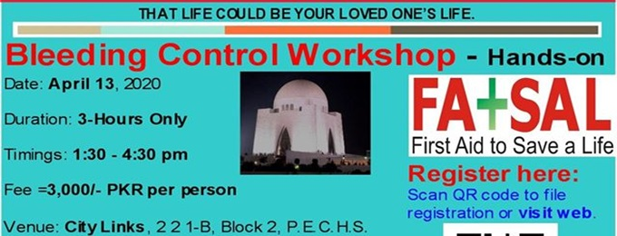 bleeding control hands-on - karachi