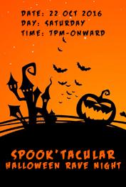 spook'tacular halloween rave night islamabad