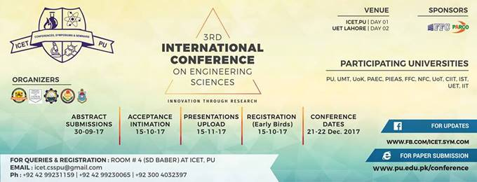 3rd international conference on engineering sciences (3rd ices)