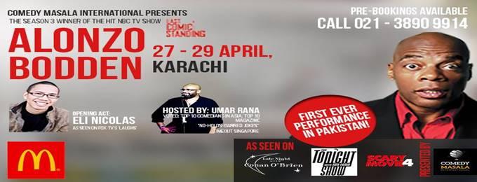 comedy masala international - april shows (we're back!)