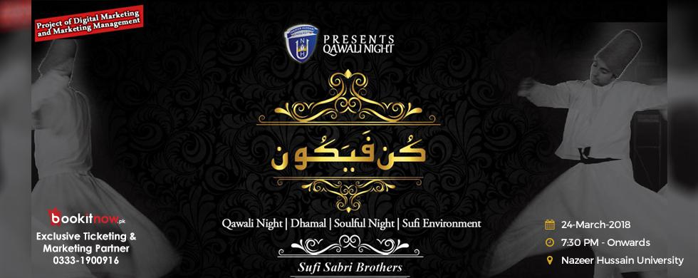 "qawali night ""kun faya kun"