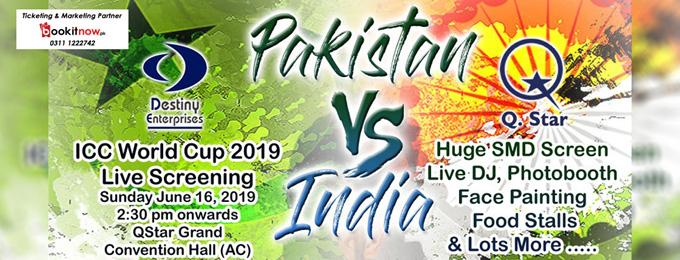 ICC World Cup 2019 (Live Screening of Pak Vs. India Match)