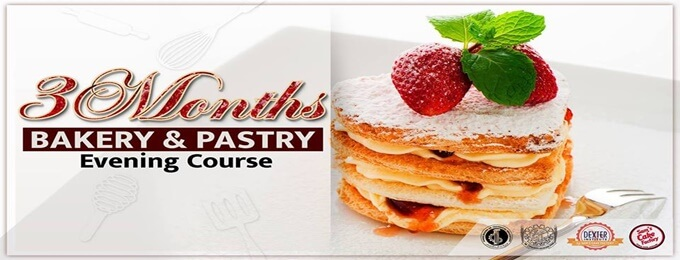 3 months bakery & pastry evening course