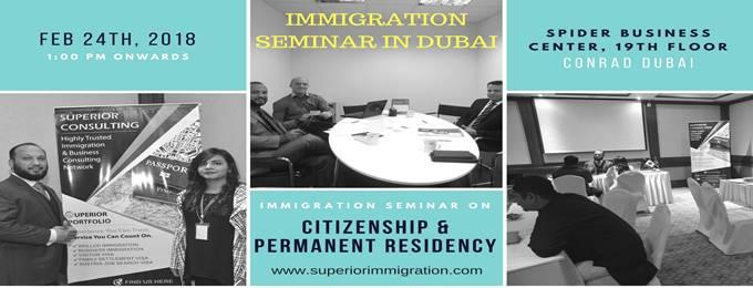 citizenship & permanent residency seminar in dubai