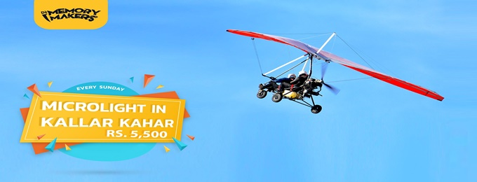 enjoy microlight every sunday with dè memory makers.