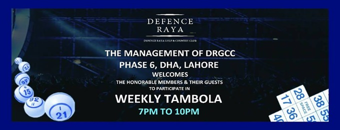 weekly tambola event