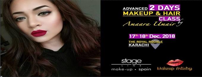 khi makeup class by amaara umair (pakistan tour)