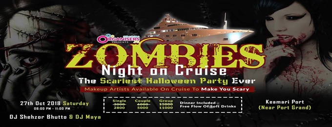 zombies night on cruise | halloween party