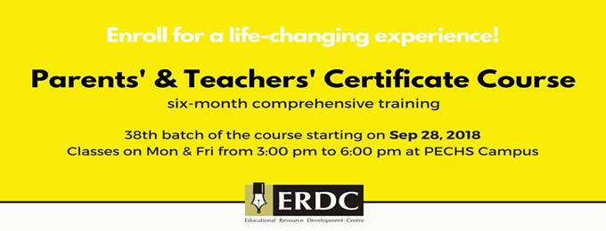 parents' & teachers' certificate course - 38th batch