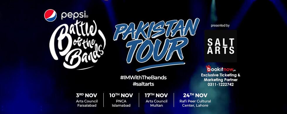 pepsi battle of the bands pakistan tour - lahore