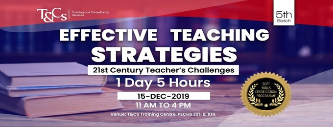 effective teaching strategies certification workshop (5th batch)
