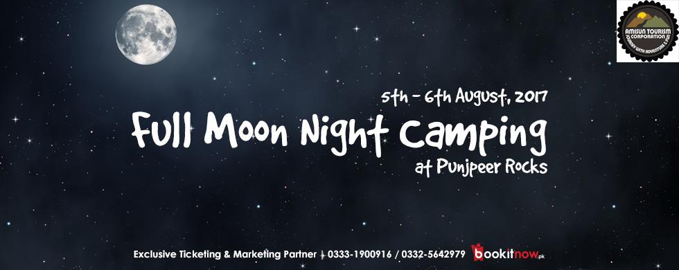 full moon night camping punjpeer rocks