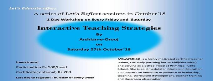 Interactive Teaching Strategies   Karachi - Bookitnow pk