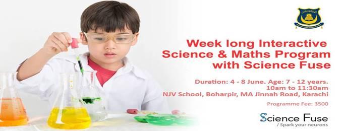 science fuse summer program at njv school karachi