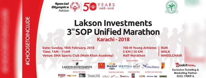 Lakson Investments 3rd SOP Unified Marathon 2018
