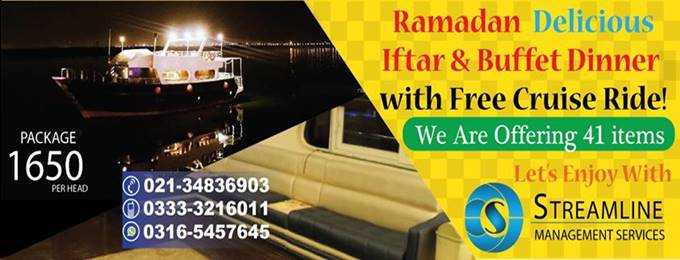 buffet iftar and dinner with cruise ride